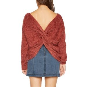 Sadie & Sage Red Soft Twist Sweater Size Large